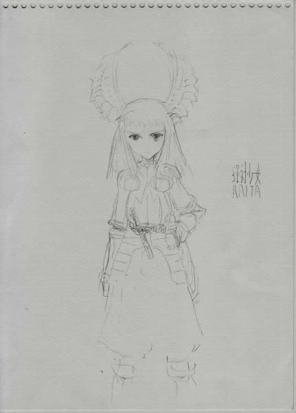 絶対少女 Raita 本庄雷太 直筆イラスト 戦場のヴァルキリアサイン直筆