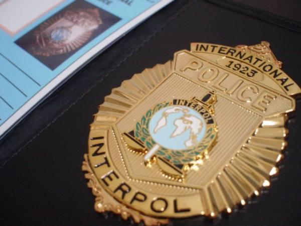 ICPOインターポールバッジ+ケース+IDカード 国際刑事警察機構Y01の入札 ...