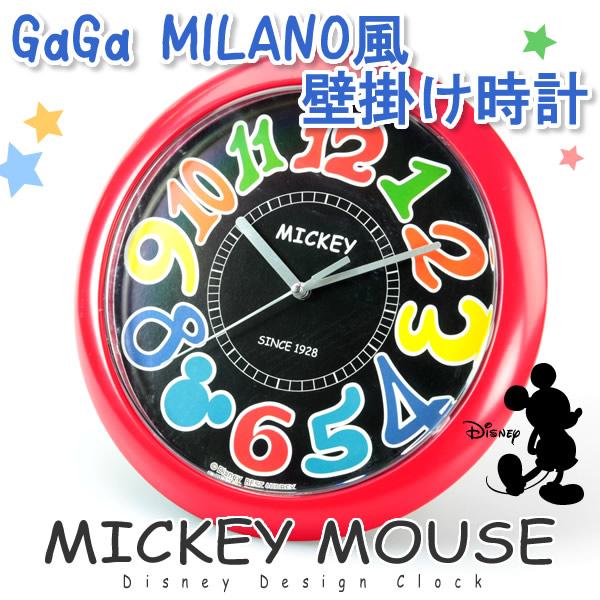 on sale f4e41 2669a △激安 ▽ディズニーミッキー 壁掛け時計ガガミラノ風 Rd ...
