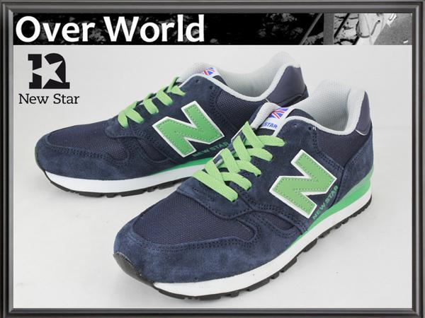 659bc2453a7ef NEWSTARスニーカー24cm紺紺緑NBニューバランス型女靴(24.0cm) 売買され ...