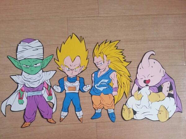 ドラゴンボール壁面飾り 幼稚園 保育園 病院 誕生日等どうぞ画用紙