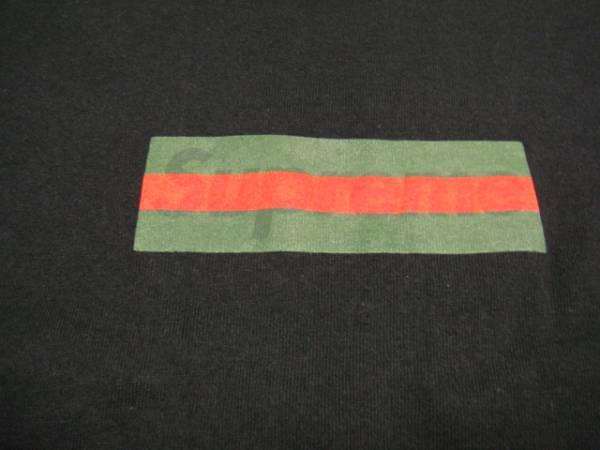 supreme gucci box logo tシャツ サイズl 黒 lサイズ 売買された