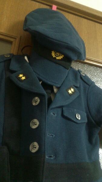 フーセンウサギ コスプレ 警察官おまわりさん風カバーオール 70
