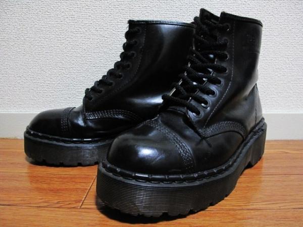 氷室京介着 英国製 ドクター マーチン 厚底 8ホール ブーツ UK7