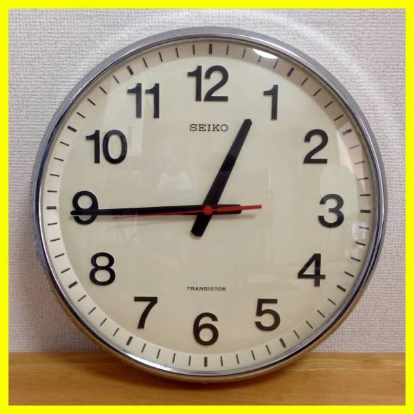 セイコー 丸時計 学校役所事務室 直径36センチ 動作品 SEIKOquartzの画像