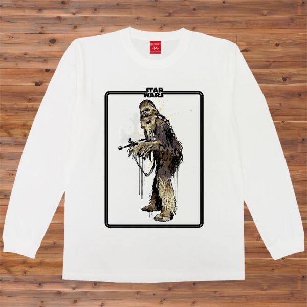 Star Wars チューバッカ 銃 イラスト Gun Tシャツ2 Ssサイズ売買され
