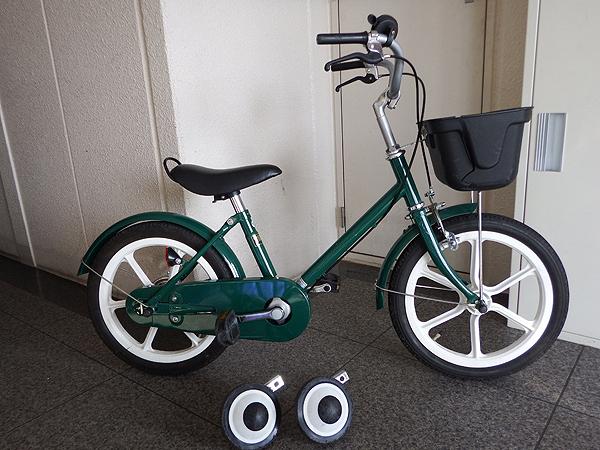 MUJI 無印良品 緑色 子供用 自転車 補助付き 良品計画 16インチ_1