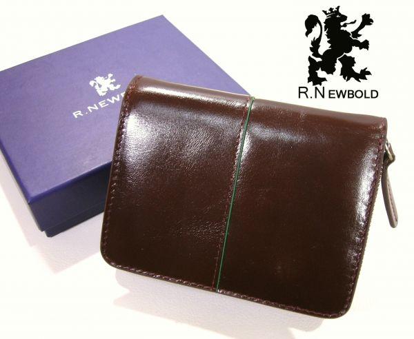 dcffa674a720 ポールスミス R.NEWBOLD 牛革 レザーウォレット 濃茶 箱付 二つ折り 財布 ...