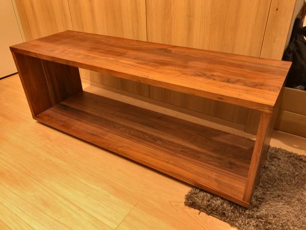 【美品】無印良品 無垢材テーブルベンチ・ウォールナット材 幅120×