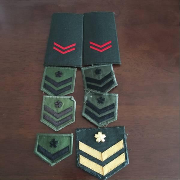 自衛隊 階級章 二等陸士 一等陸...