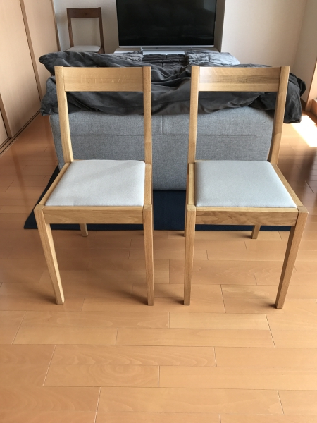 MUJI 無印良品 椅子 チェア キャスター付きの画像