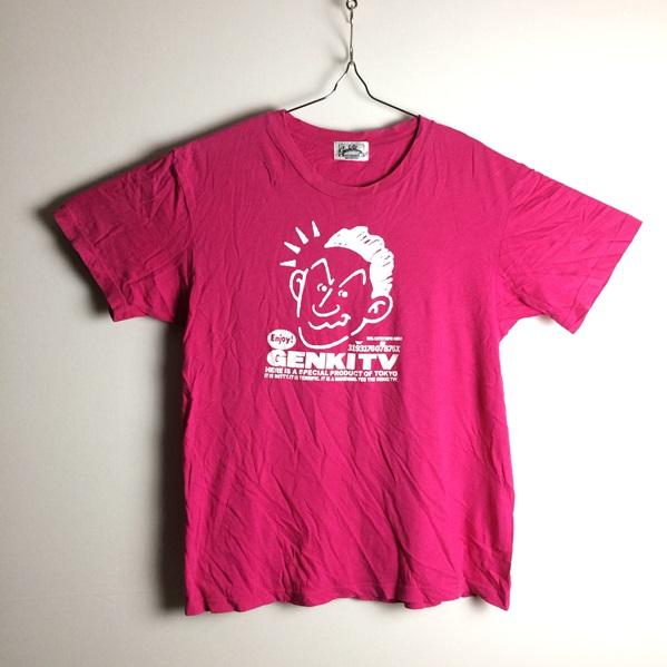 当時物 ビートたけし 元気が出るテレビ ピンクカラー 胸イラストプリント