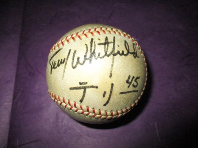 プロ野球 西武ライオンズ'81~'83活躍 テリー ウィットフィールドの直筆 ...