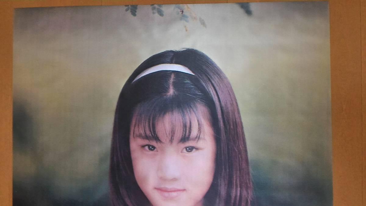 西村理香 希少 ☆ 特大 ☆ ジュニア アイドル ポスター 西村理香 11歳 137×76cm 高級シルク