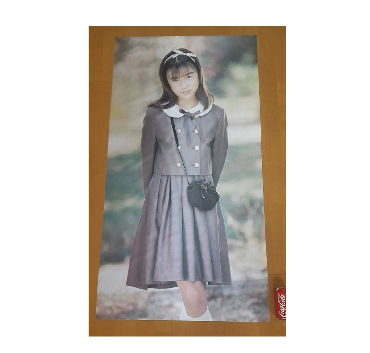 西村理香 希少 ☆ 等身大 ☆ ジュニア アイドル ポスター 西村理香 12歳 137×76cm 高級