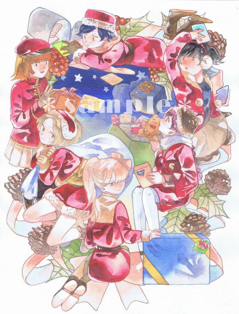 オリジナル手描きイラスト クリスマス 女の子 6人 手描きイラスト 売買されたオークション情報 Yahooの商品情報をアーカイブ公開 オークファン Aucfan Com