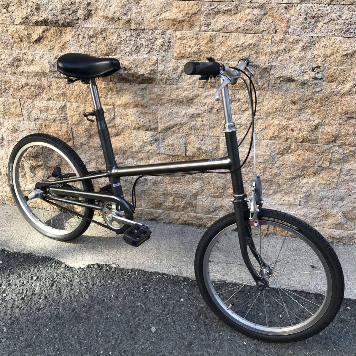 MUJI 無印良品 20インチ 自転車 ミニベロ カスタム自転車 改造 ガンメタ 小径車 内装3段