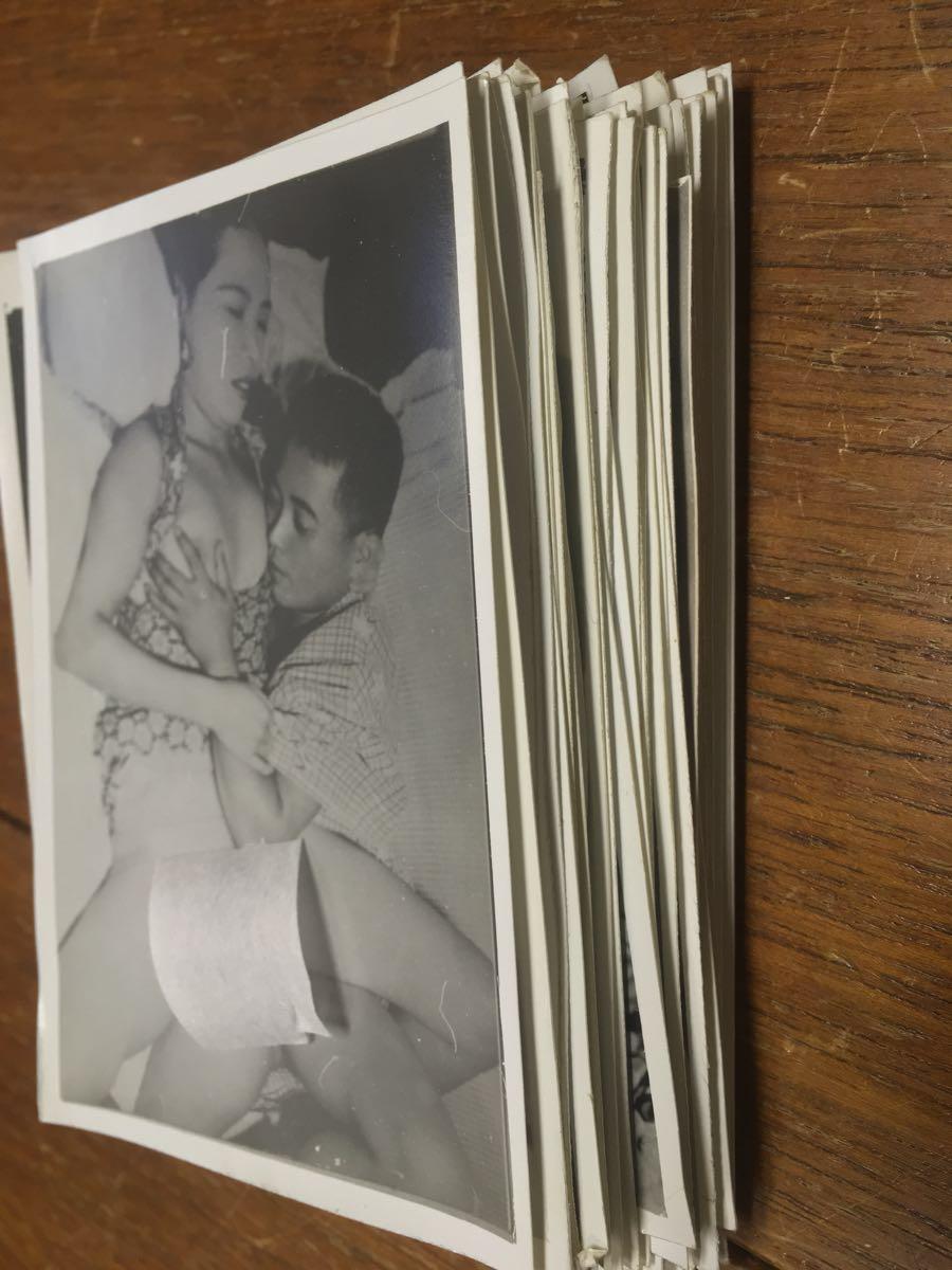 レトロ白黒エロ写真 昭和レトロ 春画 エロ写真 97枚 温泉土産 大量まとめ 白黒 ...