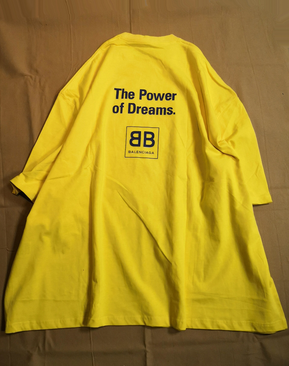 premium selection ae278 90268 バレンシアガ/BALENCIAGA 半袖 Tシャツ ロゴ 黄色 オーバー ...