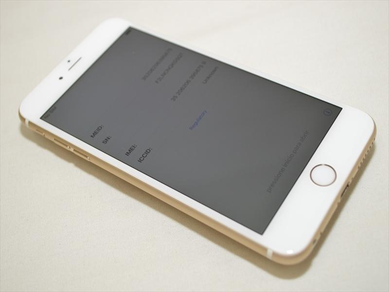 美品 Softbankデモ機 iPhone6 Plus 16GB ゴールド 3A062J/A 判定〇 バッテリー最大容量96% クリックポスト送料198円 19739_1