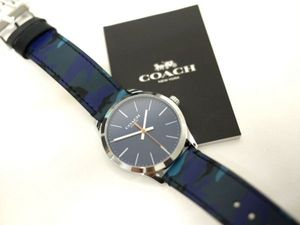 32dc1eff183a 新品f014a COACH コーチ 迷彩 メンズ 腕時計 ウォッチ ブルーカモフラージュCOACH W1547