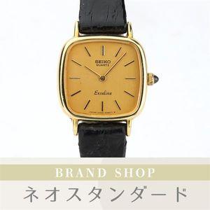 e8d346dba6 1円~ セイコー エクセリーヌ 腕時計 2320-6650 クオーツ ゴールド文字盤 中古