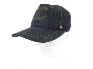 bf7e5a63875d シャネル CHANEL デニム キャップ ココマーク インディゴブルー 紺 ネイビー M 帽子 美品
