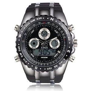 31a203c89c 0784Z/ファッション メンズ クォーツ 腕時計 軍事腕時計 アナデジ表示 LEDバックライト付