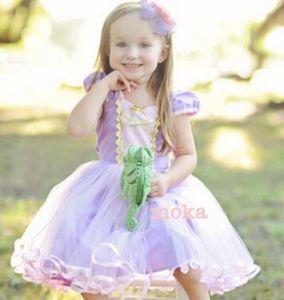 71f3e99f5f290 新品 130 120 ラプンツェル ドレス キッズ ディズニー プリンセス 衣装 仮装 姉妹 お揃い