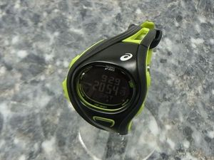 4fd4eb9ede 【送料無料】ASICSアシックス ASICS ランニングウォッチ 腕時計【WJ12-4000】電池交換済