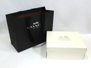 be23b6415005 COACH コーチ 空箱×ショップ袋 1セット バッグ用 ブランド 紙袋 箱 リボン付(三)