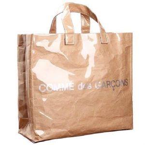 5aeb922ff3e8 コム デ ギャルソン COMME des GARONS ビニールトートバッグ PVC トートバッグ 透明 ロゴ