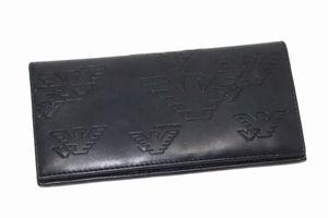 f6badb6d7497 未使用☆EMPORIO ARMANI エンポリオアルマーニ イーグル YEM474 YH187 二つ折り長財布