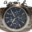 良品 1スタ★アニエスベー agnes b【クロノグラフ】メンズ腕時計
