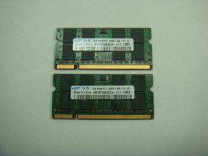 SAMSUNG ノート用 Note メモリー PC2-6400S 2GB (2枚 ...