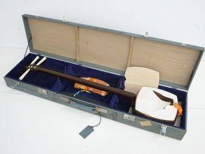 V011-N17-8 三味線 紫檀 丸打胴 地唄 正寸 和楽器 ハードケース付き ...
