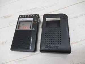 ★SONY ICF-R354M ポケットラジオ ブラック FM/AM ソニー カ ...