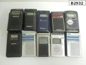 B2932S まとめ売り! ポケットラジオ SONY ICF-R351他 10個