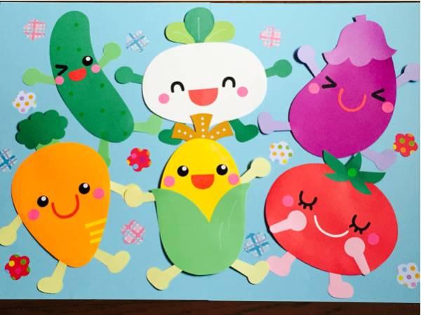 壁面 保育 夏野菜 壁面装飾 壁面飾り 幼稚園 保育園