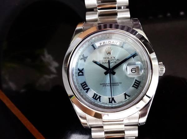 ◆新品ロレックスRolexデイデイトII 218206アイスブループラチナ