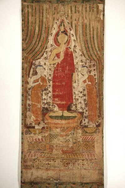 中国唐画古画 仏画 釈迦 仏教絵画 掛軸 絵画