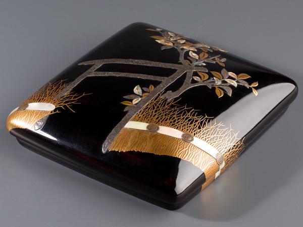 【琴》古美術品 本時代光淋蒔絵 硯箱 極上品 箱付AQ920