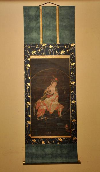 「特別出品」仏画水月観音軸(高麗仏画様式/鎌倉末~室町初期)