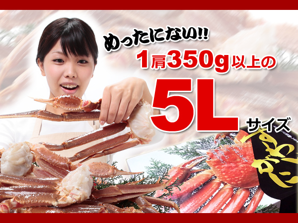 120個極上品 超特大 生ズワイ蟹 3.2kg 5L さんきん1円